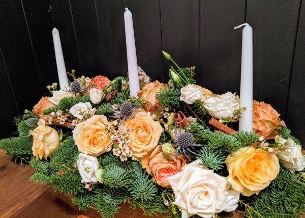 Christmas table center pieces