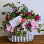 Ceramic pot of flowers