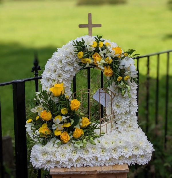 Gates of heaven funeral flowers