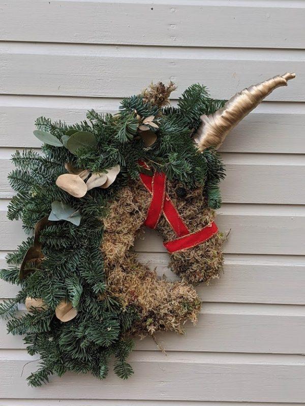 Unicorn door wreath
